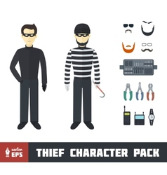 Thief character set vector