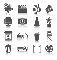 Cinema entertainment icons set vector