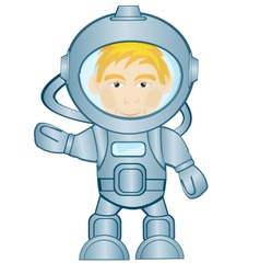 Spaceman in space suit vector