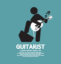 Guitarist black symbol graphic vector