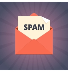 Spam mail in flat style vector