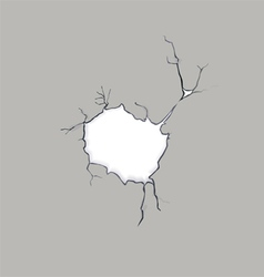 Crack in a concrete wall vector