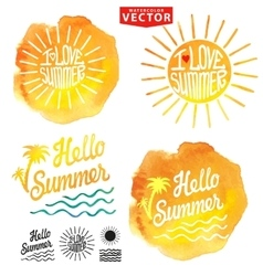 Abstract wtercolor backgroundsummer designlogo vector