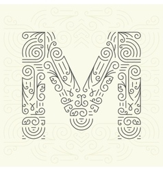 Letter m golden monogram design element vector