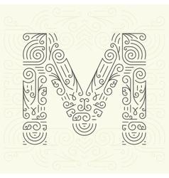 Letter M Golden Monogram Design element vector image