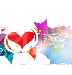 Valentines Day grunge background vector image