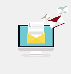 Sending emails and receiving mail email vector