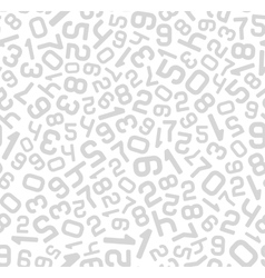 Abstract Background with Numbers Seamless vector image