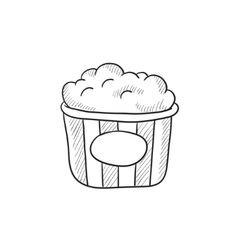 Popcorn sketch icon vector image