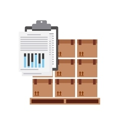 Package and check list icon delivery and shipping vector