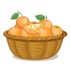 A basket full of oranges vector image