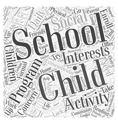 A home based after school program word cloud vector