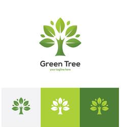 abstract green tree logo vector image vector image
