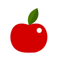 apple in red colors vector image
