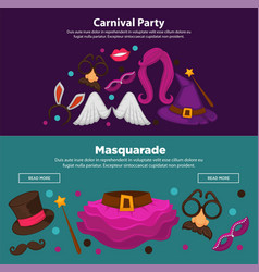 bright carnival funny masquerade and costume vector image vector image