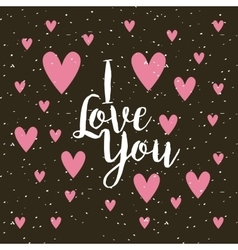 Card of i love you vector