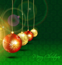 christmas hanging ball vector image vector image