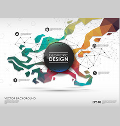 Concept background with poligonal geometric shapes vector