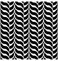 Design monochrome interlaced pattern vector image vector image