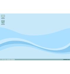 Desktop interface design with blue vector