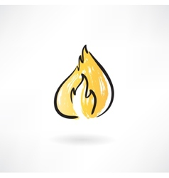 Fire grunge icon vector