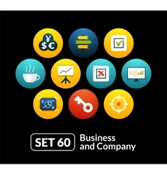 Flat icons set 60 - business and company vector image