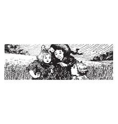 Flax vintage vector
