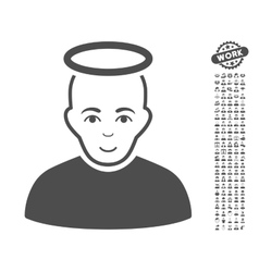 Holy Man Icon With Bonus vector image vector image