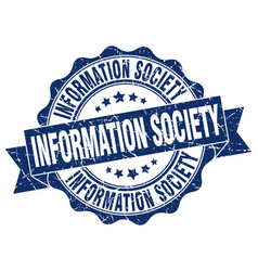 Information society stamp sign seal vector