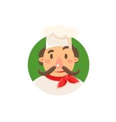 Italian cook in uniform vector