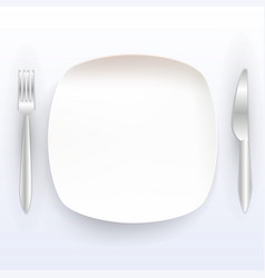 Plate with tools on a white background vector
