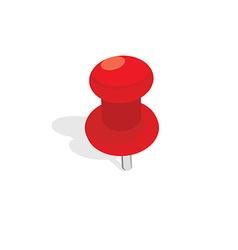 Push pin vector image