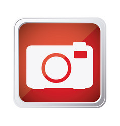 red emblem camera icon vector image vector image