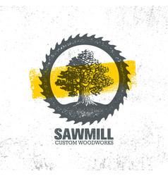 Sawmill reclaimed wood artisan carpentry creative vector