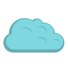 Storm cloud icon isolated vector