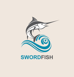 Swordfish for fishing design vector