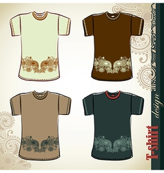 t-shirt flower ethnic design templates vector image