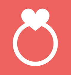 Wedding rings icon vector