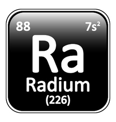 Periodic table element radium icon vector image