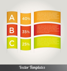 Options Tabs Template vector image