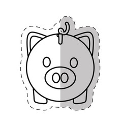 Piggy money save currency vector