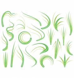 Grass elements vector