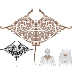 Maori manta tattoo design vector