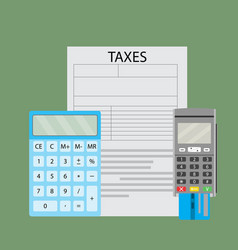 Count and pay taxes by bank transfer vector