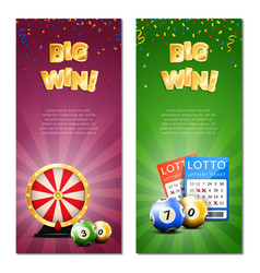 bingo lottery vertical banners vector image