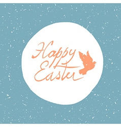 Easter card with dove vector
