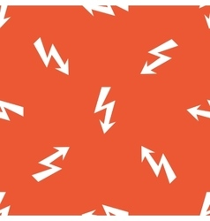 Orange voltage pattern vector
