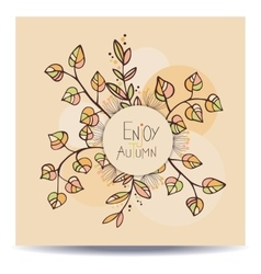 Enjoy autumn card vector