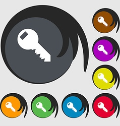 Key sign icon unlock tool symbol symbols on eight vector