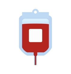 Blood bag icon medical and health care vector